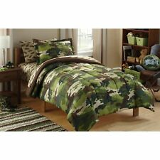 Boys Comforter Set Army Kids Twin Bed in a Bag 5 Pcs Bedding Sheets Military New