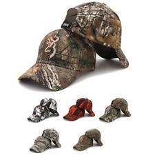Browning Camo Gorra De Béisbol Pesca para Hombres Aire Libre Caza Camuflaje Sombrero de la selva