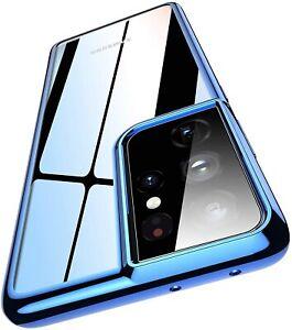 Handy Hülle für Samsung S21 Plus Ultra Case Schutzhülle Silikon Cover Schutzglas