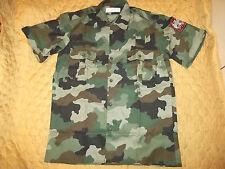 EX Yugo Serbian army officer camo shirt short sleeve camo shirt Medium size