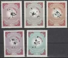 Mongolia postfris 1966 MNH 427-431 - Kampioenschap Worstelen (k066)