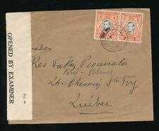 KUT TANGANYIKA RAILWAY TPO TABORA KIGOMA DOWN to QUEBEC CANADA CENSORED 1942