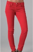 $176 NWOT RAG & BONE CRIMSON RED CORDUROY SKINNY PANTS, 27