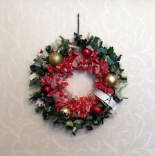 """HAND-CRAFTED CHRISTMAS DECORATION - BAUBLE """"RAGGIE"""" WREATHS - FULL SIZE"""