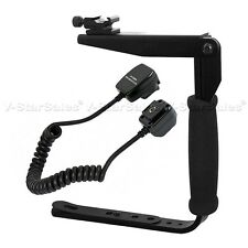 Flash Bracket + Off Camera Shoe Cord for Sony Alpha DSLR A290 A390 A560 A580
