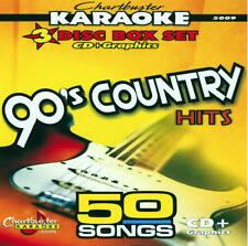 Karaoke CD+G Chartbuster 5009 The 90's Country Hits Box Set 50 Songs New