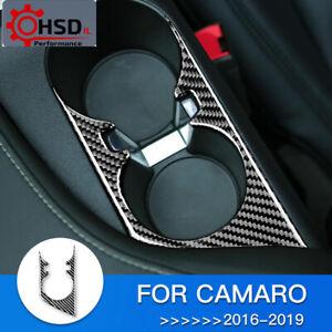 Carbon Fiber Interior Cup Holder Frame Panel For Chevrolet Camaro 2016 - 2019