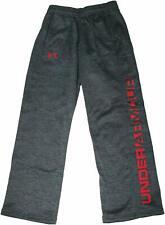 NWT UNDER ARMOUR Storm Boys UA Fleece Grey/Red Logo Pants SELECT SIZE