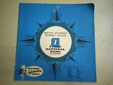 Early 1960's 1st First National Bank Metro PHOENIX Street Atlas **Super Rare**