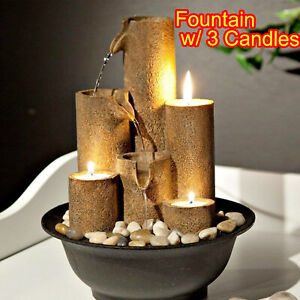 TABLETOP FOUNTAIN WATER WATERFALL ZEN RELAXATION SOOTHING SMALL DECOR INDOOR NEW