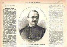 Lieutenant-Colonel des Pompiers François Xavier Eugène Froidevaux GRAVURE 1882