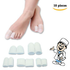 Gel Soft Finger Toe Protector Sleeves Toe Caps Foot Corns Blisters Callus D0185