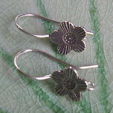 Flower Earring Pure Silver Thai Karen Hilltribe Design