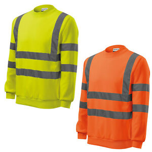 High Visible Essential Sweatshirt - 3M Reflektorbänder - Warnschutz RIMECK *NEU*