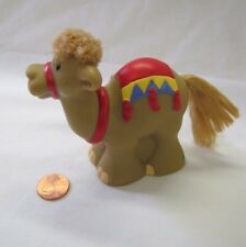 Touch & Feel CHRISTMAS NATIVITY CAMEL RED SADDLE Fisher Price Little People Rare