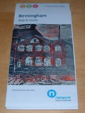 BIRMINGHAM WEST MIDLANDS HUGE FOLD OUT BUS, RAIL AND METRO MAP AND GUIDE 2016