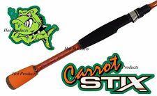 Carrot Stix SPINNING 6' ULTRA LIGHT Wild Orange Lite Fishing Rod C2WX601UL-F-S