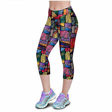 Pantalones Leggins Mujer de Diseño Fashion Multicolor Ajustables Talla M 4519M