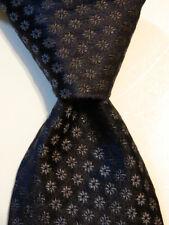 KITON Napoli SEVEN FOLD Men's 100% Silk Necktie ITALY Luxury Geometric Blues EUC