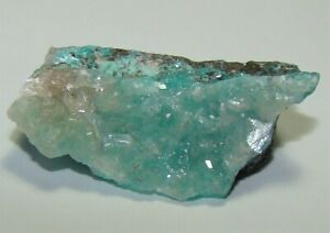 Aurichalcite in Calcite - Ojuela Mine, Mapimi, Durango, Mexico