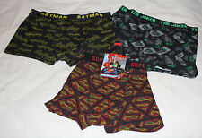 DC Comics Justice League Mens Black Printed 3 Pack Trunk Brief Size L New