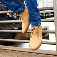 Timberland Men's Groveton Shoes Leather & Fabric Chukka Sneakers WHEAT TB0A1115