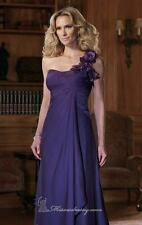 Montage by Mon Cheri Purple Chiffon Mother of the bride gown with sheer shawl