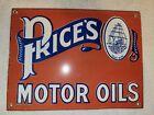 VINTAGE+PRICE%27S+MOTOR+OILS+PORCELAIN+SIGN+SERVICE+STATION+PUMP+PLATE+GAS+OIL+