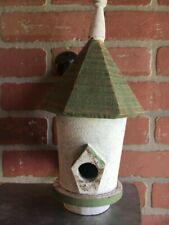 Decorative Indoor/Outdoor Birdhouse - Painted Tin/Wood
