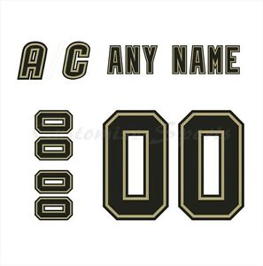 Pittsburgh Penguins 2000-2016 White Jersey Customized Number Kit un-sewn