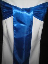 100 ROYAL BLUE  WEDDING  SATIN SASH SASHES BANQUET BOWS