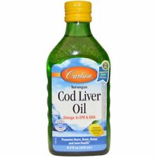CARLSON LABS LEMON COD LIVER OIL FOR HEART, BRAIN & JOINT HEALTH 250mL