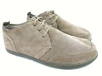 Olukai Makia US Men's 9.5 M UK 8.5 EUR 42.5 Beige Suede Lace-Up Casual Shoes
