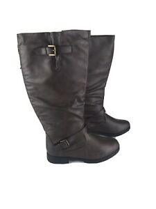 twisted  boots womens 10 W Brown Tall