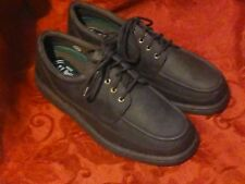 MEN'S EZ STRIDER brown lace up dress casual shoes size 10 W USED leather suede