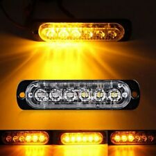 Amber 18W 6 LED Bar Car Truck Strobe Flash Emergency Warning Light Lamp 12V-24V