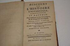 BOSSUET - Discours sur l'Histoire Universelle a Monseigneur Le Dauphin - 1766