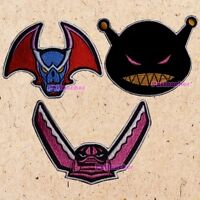 Lot of 3 Mazinger Z Patches Villain Robots Debira X1 Jinray S1 Glossam X2 Kabuto