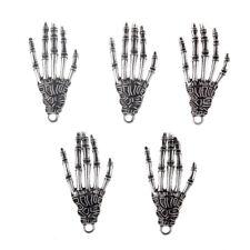 10pcs Tibetan Silver Skeleton Hand Charms Pendant Large Beads 39*20mm