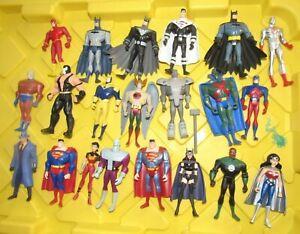"Mattel Justice League Unlimited 4"" JLU figure lot Batman Superman Wonder Woman"