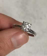 Diamond Solitaire Engagement Ring 14k White Gold, 0.81ct Diamond size 5.5