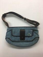LACOSTE HOBO Shoulder Bag - Corduroy Powder Blue - NICE!