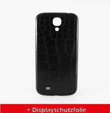 Samsung Galaxy S4 KROKO AKKU DECKEL BACK COVER LEDER COVER HÜLLE+Folie
