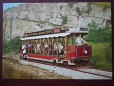 POSTCARD BLACKPOOL & FLEETWOOD NO 2 TOASTRACK TRAMCAR