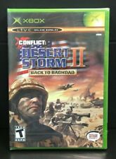 CONFLICT: DESERT STORM II BACK TO BAGHDAD New, Y-Fold Seals Microsoft Xbox