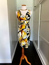 Signature by Robbie Bee Dress Black and Yellow, Size 10P NWT