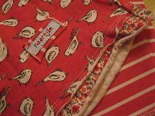 Naartjie Set Top Stripe Sparrow Print Tunic Stripe Capri Ballet Rubine size 5, 6