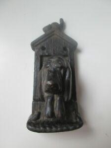 VINTAGE CAST IRON BASSETT / BLOODHOUND DOG DOOR KNOCKER