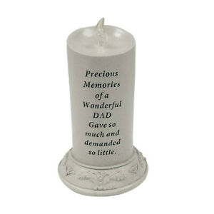 Solar Powered Flickering Led Candle, Waterproof Flameless Special Dad Memorial