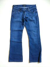 Levi's Too Superlow 524 stretch women blue denim flared jeans Size 7